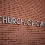 Church of Christ building sign
